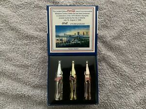 1996 Atlanta Olympics Coca-Cola Coke Miniature Contour Bottles Set #4196 of 5000