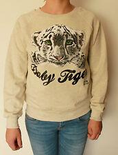 Felpa donna Molly Bracken Tigre Beige Tigrotto T-shirt TU