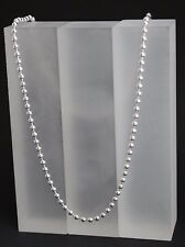 Kugelkette Perlenkette Collier 925 Sterling Silber Halskette massiv  3 mm - 45cm