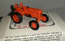1/64 ERTL farm toy ttt spec cast agco allis chalmers b wf tractor htf! nib!