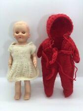 "Vintage Rosebud Co England Hard Plastic  6"" Darling Baby Doll"