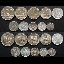 [B-4] Poland Set 10 Coins, 10+20+50 groszy + 1+2+5+10+20+50+100 Zloty, UNC
