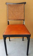 Vintage Folding Chair Leg-O-Matic 1950's Cane Back Fold-up Chair Burnt Orange