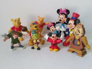 Lot of 10 Mickey Minnie Winie The Pooh Disney Figures mixed years SUPER RARE LOT