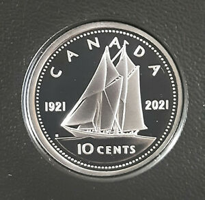 2021 Canada Dime 10 cent 1921-2021 proof finish King George VI obv - from set