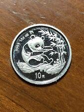 1994 China Platinum 10 Yuan Panda - 1/10 Ounce - UNC Details - Ex-Jewelry