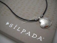 """NEW Designer SILPADA """"You've Got Heart"""" Sterling Necklace (N3235), $49MSRP NWOB"""