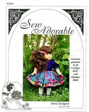 "Sew Adorable Doll Clothes Pattern, fits 18"" American Girl, Dress Designer"