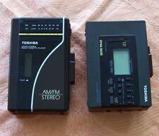 Lot of 2 Toshiba Cassette Players KT-4521 & KT-4018 (no as10 4087 s3 as aiwa wm)