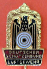 GERMAN SHOOTING FEDERATION - AIR RIFLE GOLD COLOR PIN , 20x14 mm.