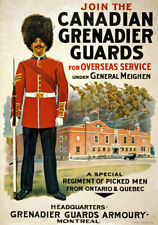 More details for wa70 vintage wwi canadian grenadier guards recruitment war poster a1 a2 a3