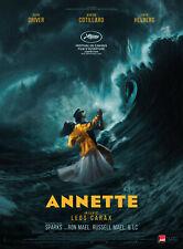 ANNETTE Affiche Cinéma Originale ROULEE 53x40 Movie poster Leos Carax 2021