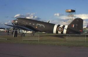 35mm Aircraft Slide RAF G-BVOL Douglas C-47 Skytrain Farnborough 1994