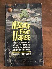 Paul Kruger - MESSAGE FROM MARISE - 1963 Gold Medal