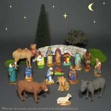 "Old FrenchSantons ""Devineau""Figurines, ChristmasNativity Set, Crèche, 17 pcs"