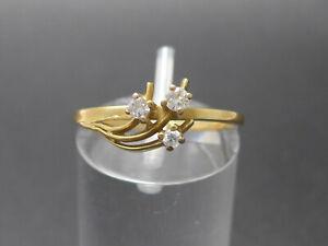 Ring Goldring 585 GOLD 14 Karat Brillanten Diamanten diamonds Gelbgold bague