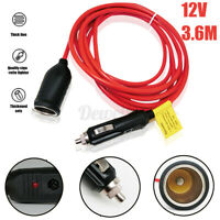 180W 12V Car Cigarette Lighter Extension Cable Connector Charger Socket  t