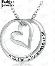 A Mother's Love Has No End NECKLAC Silver Heart Pendant Mum necklace 708