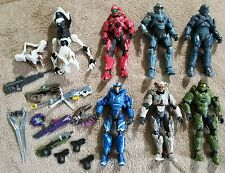 Set of SIX Halo BAF Alpha Crawlers 2016 Figures with weapons and BAF Pieces!!