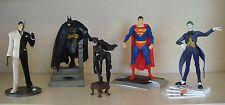 "DC - Set of 5 Vinyl Statues - Batman, Superman, Catwoman, Joker, Two-Face 7"""