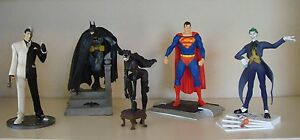 DC - Set of 5 Vinyl Statues - Batman, Superman, Catwoman, Joker, Two-Face 7""
