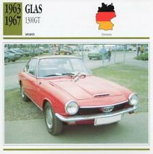 1963-1967 GLAS 1300GT Sports Classic Car Photo/Info Maxi Card