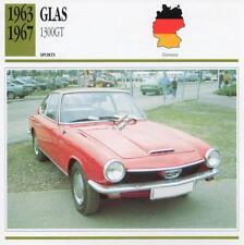 1963-1967 GLAS 1300GT Sports Classic Car Photo/Info Maxi Card