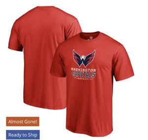 Washington Capitals Team Lockup T-Shirt - Red Men's 3XL