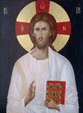 Jesus Christ -MADE TO ORDER Eastern Orthodox Byzantine icon on wood 22karat gold