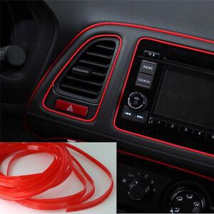 5M Car Interior Decor Red Point Edge Gap Door Panel Accessories Molding Line