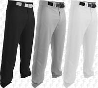 Easton Rival 2, Adult Mens Baseball Pants Open Bottom A167114 White, Black, Grey
