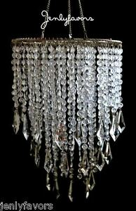 Acrylic Plastic Chandelier Clear For Party Decoration