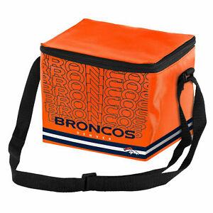 Denver Broncos NFL 6 pack Cooler Lunch Box Bag Insulated