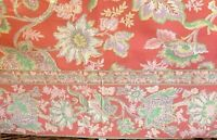 Vintage April Cornell Table Cloth - Floral French Country Farmhouse