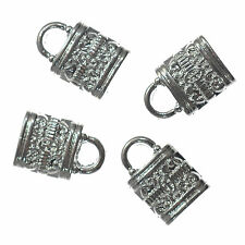 30 Silver Plated Padlock Charms Metal Pendant 12mm Jewellery Making Findings