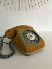 ♦ Ancien Téléphone Gris Coque Velours Cache Cadran Vintage