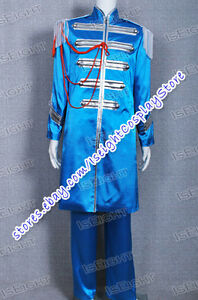 The Beatles Cosplay Sgt Pepper Sir James Paul McCartney Blue Costume Halloween