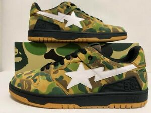 A Bathing Ape ABC CAMO Bape Sk8 Sta Shoes New US10 Authentic From JAPAN