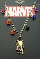 Marvel Comics Avengers Infinity War Thanos Stone Gauntlet Necklace New MIP