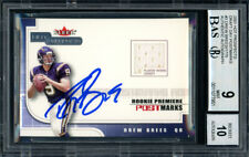 Drew Brees Autographed 2001 Fleer Jersey RC Auto 10 Card 9 Beckett 11077951