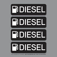 SKU2557 - 4 x Diesel Fuel Reminder Stickers - Car - Truck - Bus - Van - Fleet