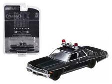 1974 DODGE MONACO POLICE BLACK BANDIT 1/64 DIECAST MODEL CAR GREENLIGHT 27710C