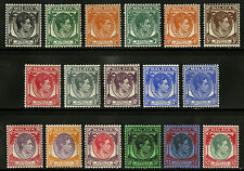 Straits Settlements   1937-41   Scott #238-251 Mint Very Lightly Hinged Part Set