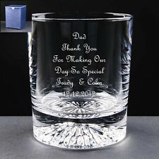 Personalised Whisky Glass,Wedding Gift, Mother / Father of the Bride / Groom
