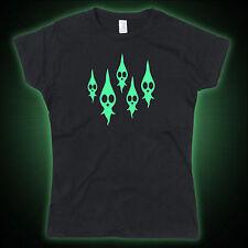 Dead Pikmin Ghosts Tribute Glow in the Dark Ladies Tshirt T-Shirt Tee Top