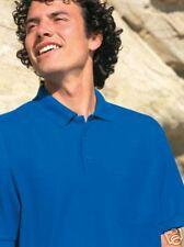 3 JERZEES HARD WEARING PIQUE POLO SHIRTS ROYAL BLUE 3XL