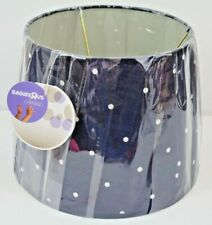 "New Babies ""R"" Us Nursery Lamp Shade Navy White Polka Dots Baby Gift Boy or Girl"