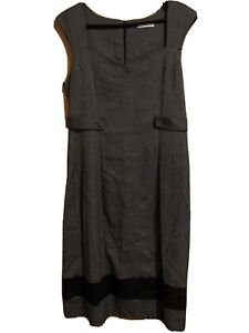 Target Size 14 Fitted Black/Grey Dress - Free Postage