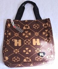 Harajuku Lovers Canvas Brown Tan Tote Hand Bag Purse Snap Close 11 x 9.5 x 1.5""