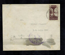 1941 Targuist Spanish Morocco Airmail Cover to Argentina Star of David Judaica